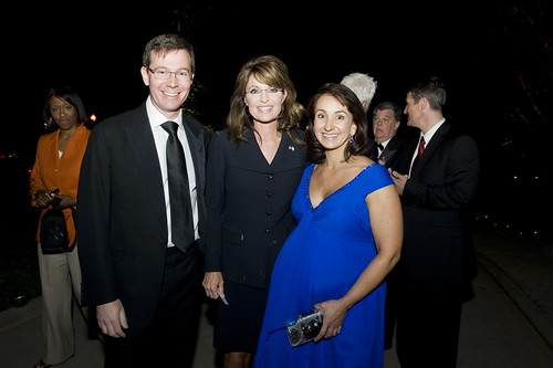 Robert and Elena Allbritton with Sarah Palin