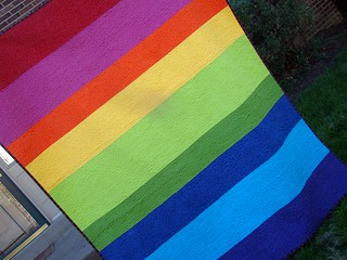 Scrappy Rainbow Quilt back
