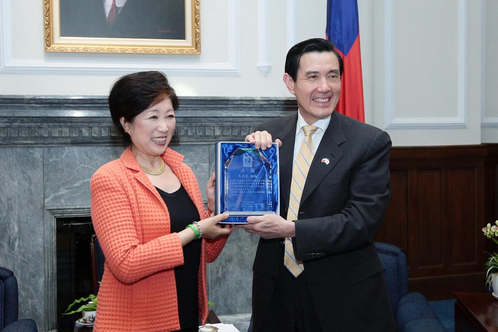 1000506總統接見日本眾議員小池百合子(Koike Yuriko)女士