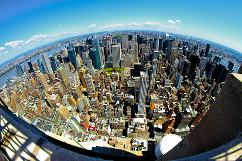 North Manhattan Sky-Line Fish-Eye