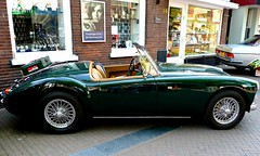 automobile, vehicle, mg mga, antique car, classic car, vintage car, land vehicle, convertible,