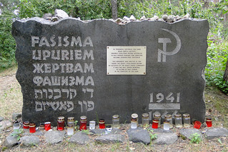Memorial Marker - Rumbula Forest Holocaust Site - Riga - Latvia