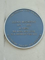 Photo of Lillah McCarthy blue plaque