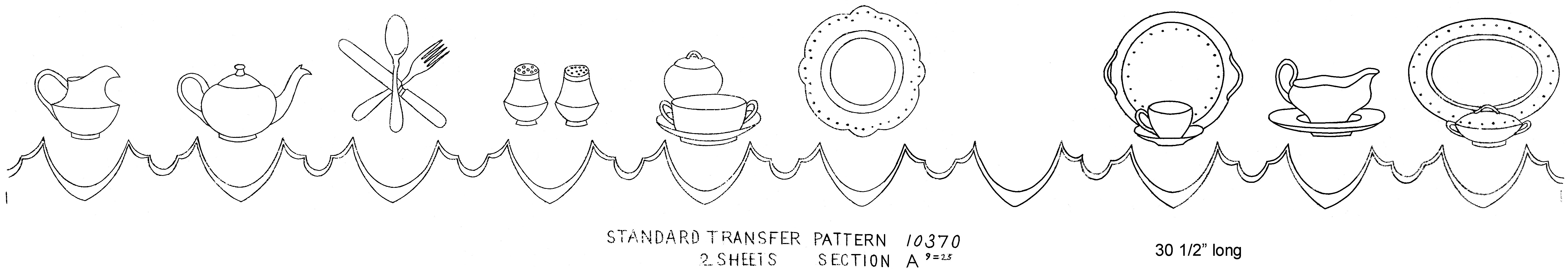 no. 10370 standard transfer pattern b