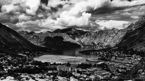 ocean city sea blackandwhite bw cloud mountain mountains clouds landscape bay nikon ship cloudy ships dramatic ii 169 18200 bnw vr adriatic montenegro dx lightroom kotor crnagora 18200mm d90 18200vrii 18200mmf3556vrii