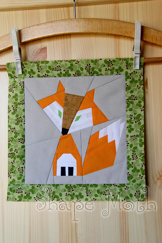 Felix the Fox paper piecing pattern 1