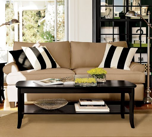 suede-sofa-black-white-cushions
