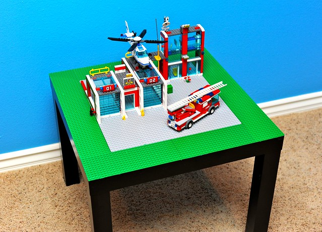Ikea Lack Side Table Turned Lego Table Flickr Photo Sharing
