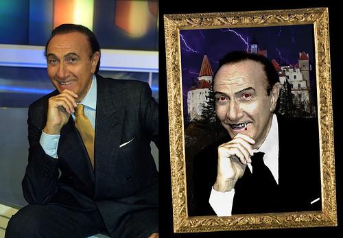 Pippo Baudo transformation Dracula by Giuseppe Lombardi