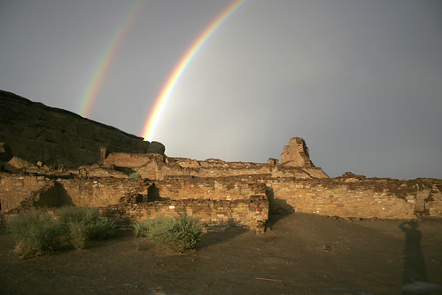 Double Rainbow Over Pueblo Bonito