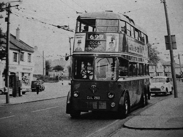 London transport Trolleybus C2 260 Reading 1967