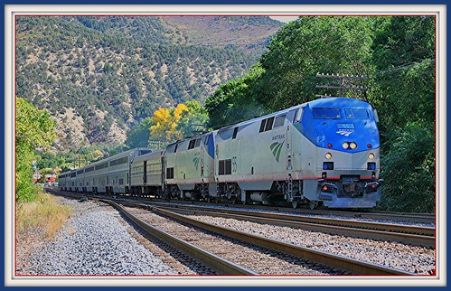 railroad travel train colorado amtrak 2010 glenwoodsprings californiazephyr