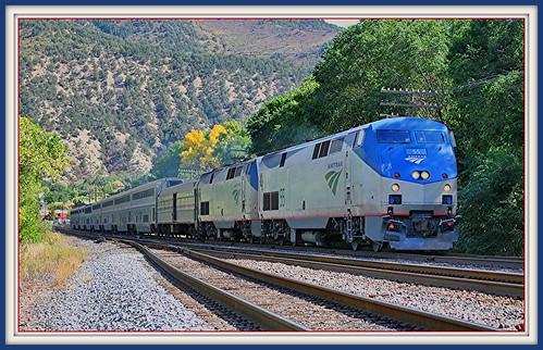 railroad travel train colorado amtrak 2010 glenwoodsprings californiazephyr