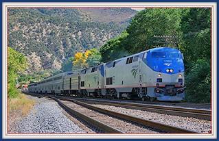 Glenwood Springs ..Amtrak Train