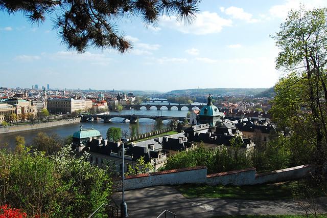 View of Prague Bridges from Letná Park - Flickr CC Pete R