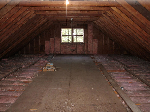 flooring ideas for attic - The unfinished attic it s huge