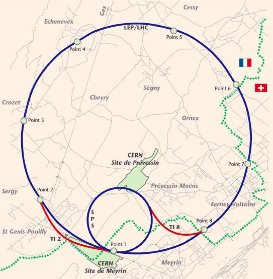 CERN / Plan of SPS to LHC transfer tunnels