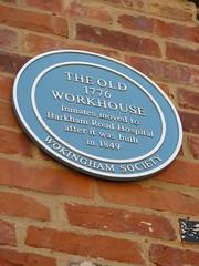 Photo of Wokingham Workhouse blue plaque