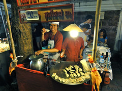 Gyoza stand at Chiang Mai Sunday Walking Street, Thailand