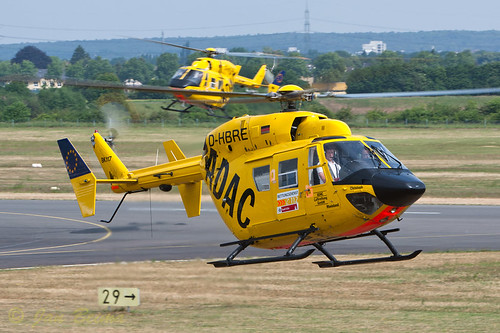 2 ADAC BK-117's performing testflights at Bonn-hangelar