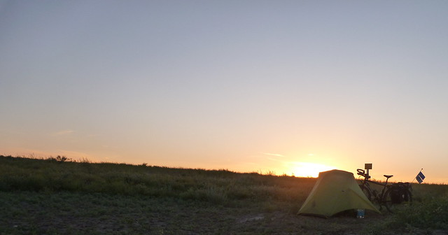 Sunrise on the steppe