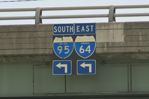 Old, Faded, State Name I-95 & I-64 Unisign