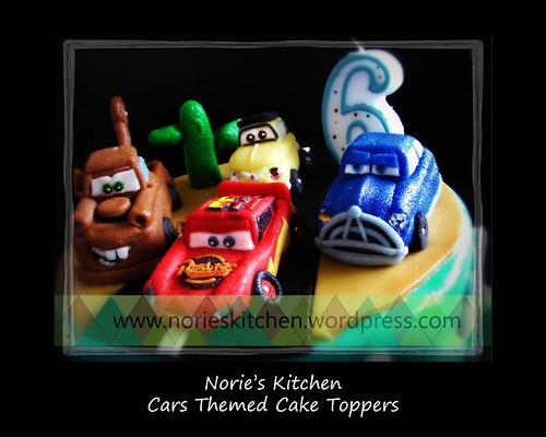 Norie 39 s kitchen cars themed cake toppers for Car themed kitchen