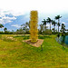 Chihuly Citron Tower - Fairchild Tropical Gardens