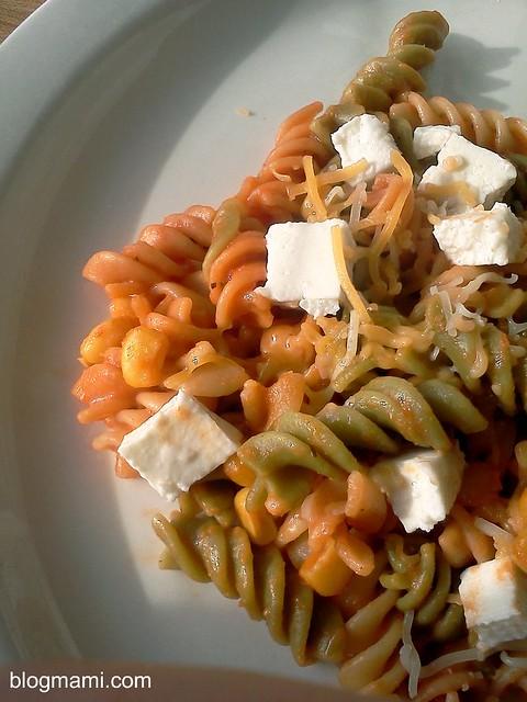 Receta Pasta: Rotini con Vegetales