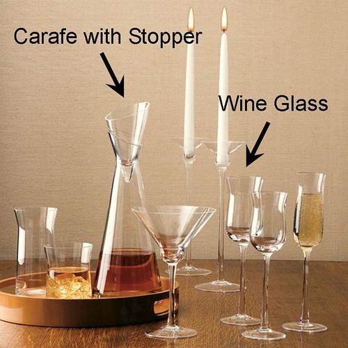 Lazy Susan Silhouette Glassware New