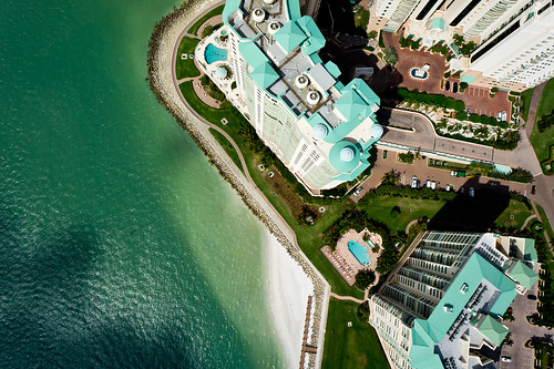 High Over Marco Island, Florida and Caxambus Pass - Picture Taken from a Kite