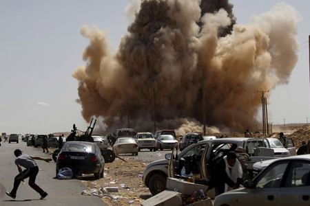 Carnage inflicted by the US-led bombing campaign against the North African state of Libya. Washington has mobilized a host of other imperialist governments and their allies to plot regime-change in this oil-producing country. by Pan-African News Wire File Photos