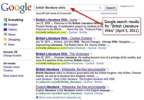 britlitwiki Google Search
