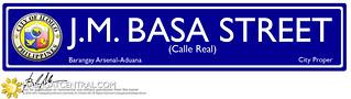 Iloilo Street Name Signs Blue