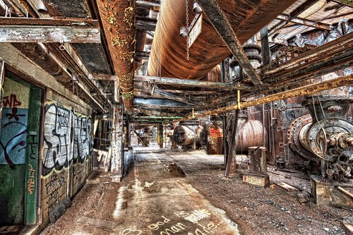 Hallway at Carrie Furnace HDR