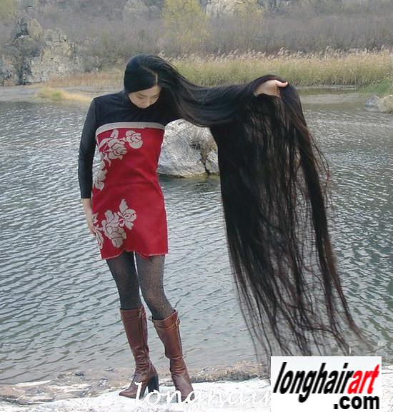 6 Long Hair Girl Long Hair Lady Long Ponytail Longest Hair -7933