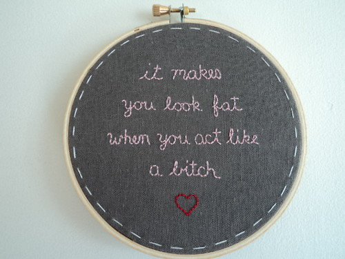 bitch embroidery