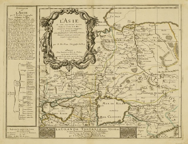 La Grand Tartaie - part of l'Asie - Map by Pierre Duval (c 1679)