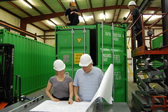 Algae.Tec team start the retrofit process at the Algae Development & Manufacturing Centre in Atlanta, Georgia