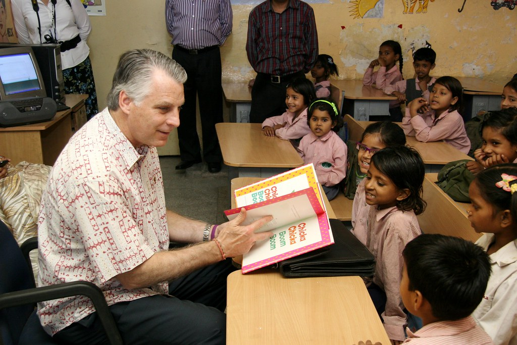 Ambassador Roemer visits education program