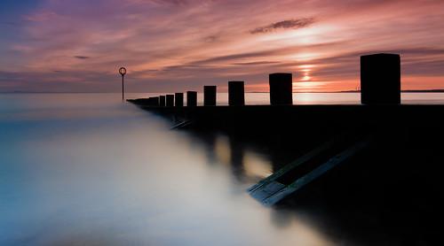 longexposure sea seascape beach water beautiful sunrise scotland edinburgh portobello portobellobeach