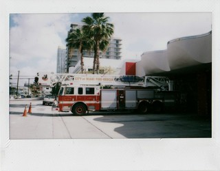 City Of Miami Brickell Fire Station And Truck