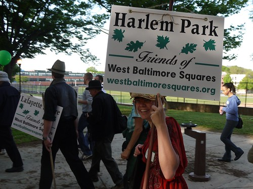 Mary Couri in Harlem Park on the West Baltimore Squares Spring Walk | by West Baltimore Squares