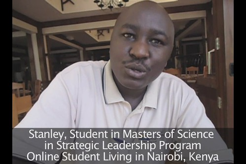 Online Student in Kenya says Leadership Masters is Impressive!