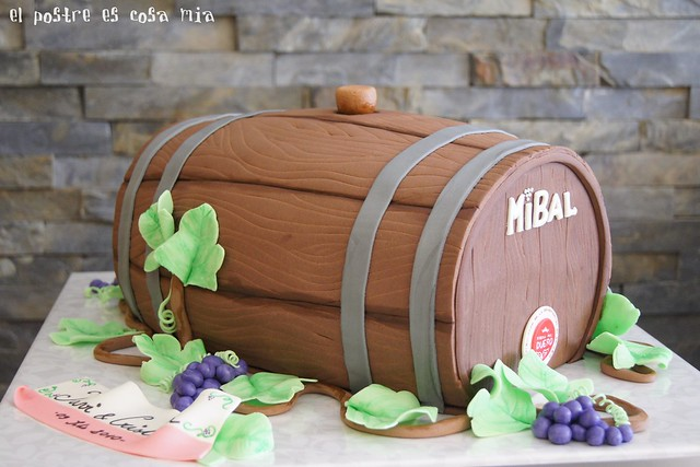 Tarta barril de vino flickr photo sharing for Barriles de vino
