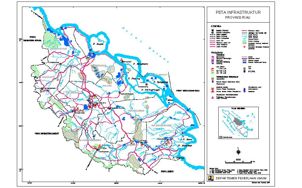 Peta Jaringan Jalan Provinsi dan Nasional Provinsi Riau ...
