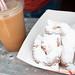 Beignets and frozen cafe au lait, Heritage Square