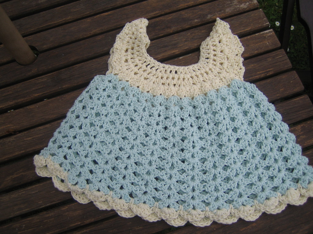 Free Crochet Angel Wing Dress Pattern : Crochet baby dress 1 Flickr - Photo Sharing!