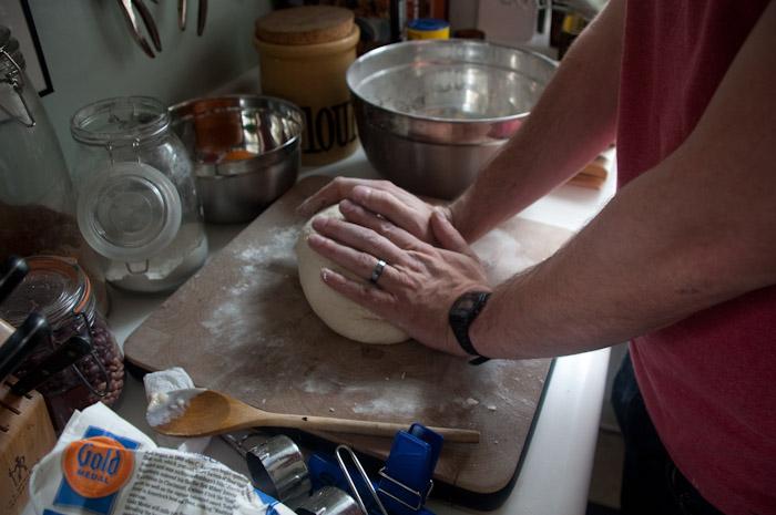 Andrew baking bread.