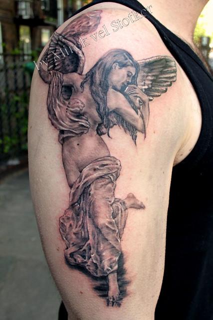 angel tattoo by Mirek vel Stotker